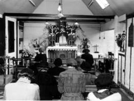 Inside the chapel in the early 1950s