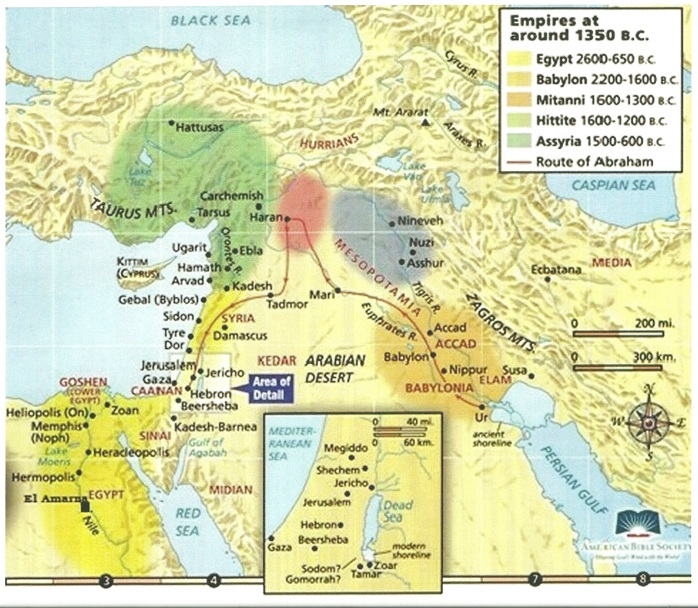 Ancient empires 1350BC